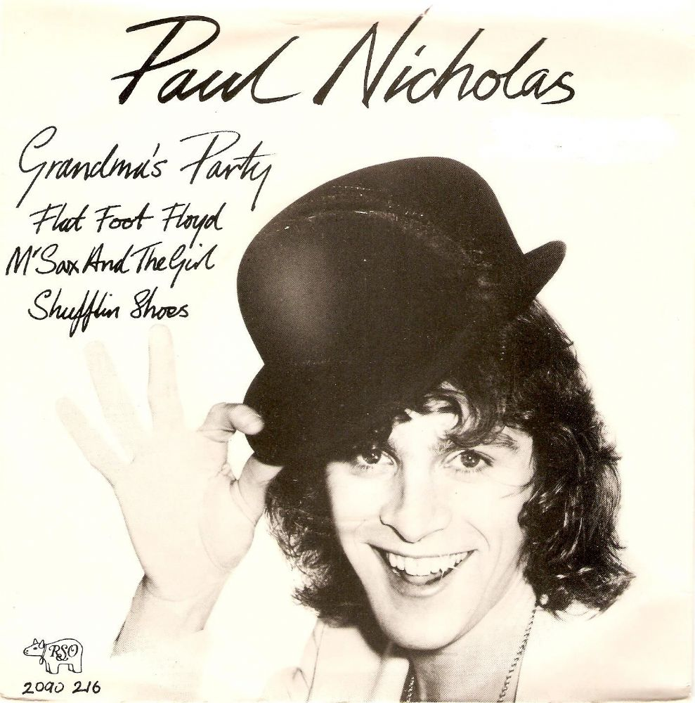 PAUL NICHOLAS Grandma's Party EP Vinyl Record 7 Inch RSO 1976
